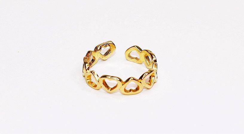 Anel Corações - Gold