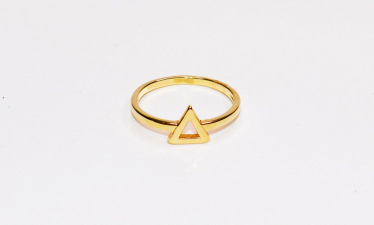 Anel Triângulo - Gold