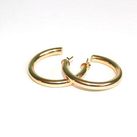 Argola Tubular - Gold