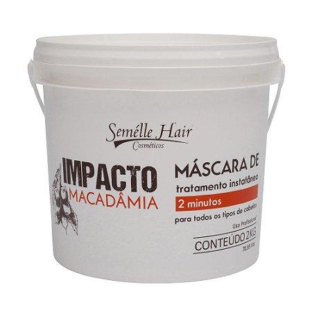 Máscara de Hidratação de Macadâmia Profissional Semélle Hair 2kg
