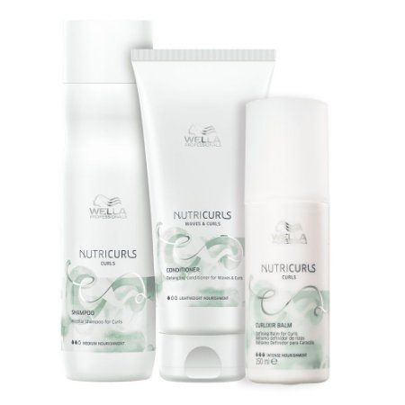 Wella Nutricurls Shampoo 250ml + Cond 200ml + Curlixir 150ml