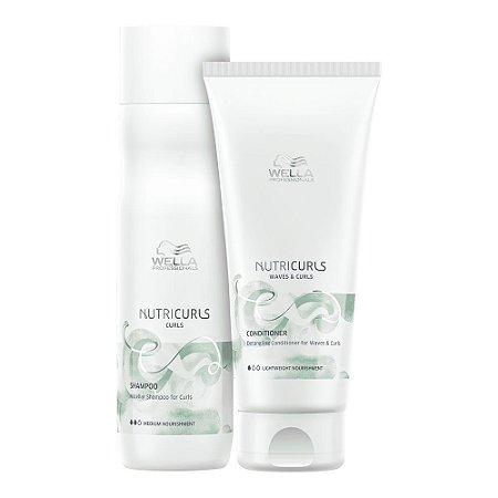 Wella Nutricurls Shampoo 250ml + Condicionador 200ml