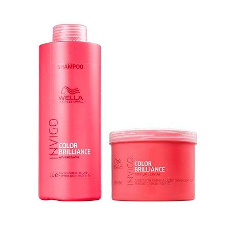 Wella Invigo Color Brilliance Shampoo 1L + Máscara 500g