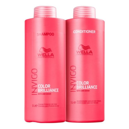 Wella Invigo Color Brilliance Shampoo 1L + Condicionador 1L