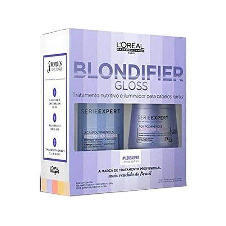 L'Oréal Kit Blondifier Gloss Shampoo 300ml + Máscara 250g
