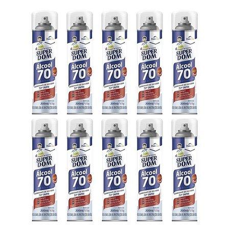 Super Dom Álcool 70 Aerosol 300ml (10und)