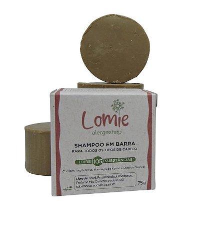 Shampoo em Barra Lomie Alergoshop - Todos os tipos de cabelos - Manteiga de Karité e Óleo de Girassol - 75g