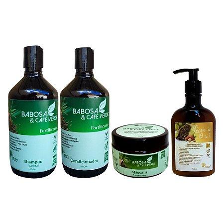Kit Vegano Baume Babosa e Café Verde (4 Produtos)