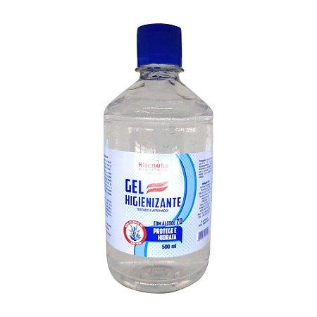 Álcool em Gel 500ml 70% Antisséptico Rhenuks