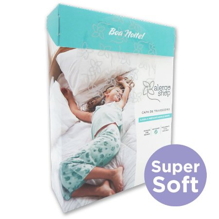 Capa para Travesseiro Super Soft Anti Ácaros Bebê 30 x 40 - Alergoshop