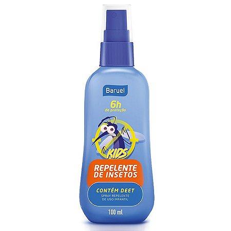 Repelente de Insetos Hipoalergênico Kids Spray 100ml Baruel