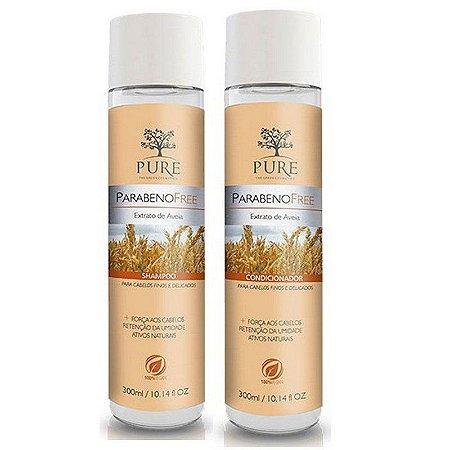 Kit Shampoo + Condicionador Pure Extrato de Aveia 300ml Cabelos Finos