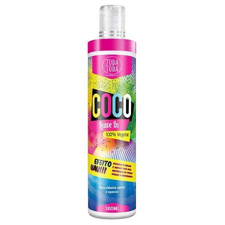 Leave-in Creme sem Enxágue de Coco 300ml - Toda Toda