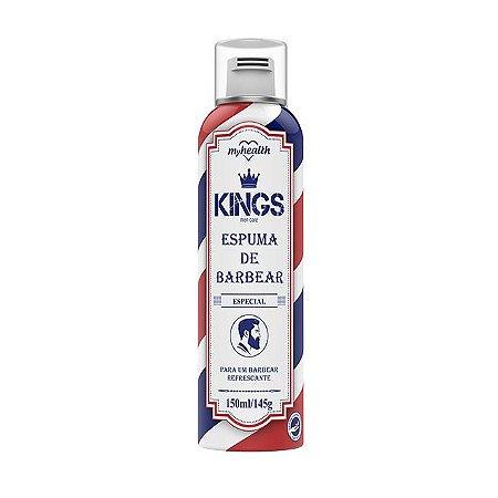 Espuma de Barbear Spray King 150ml - My Health