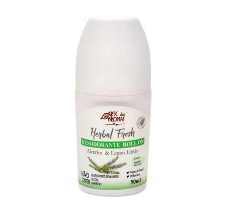 Desodorante Natural Rollon Alecrim 50ml Arte dos Aromas