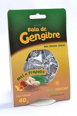 Bala de Gengibre Natunectar 40g Sabor Mel e Própolis