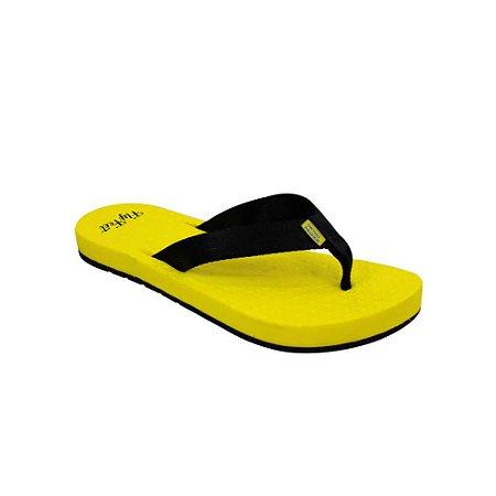 Chinelo Ortopédico Fly Feet Extra Macio Feminino Cor Amarelo