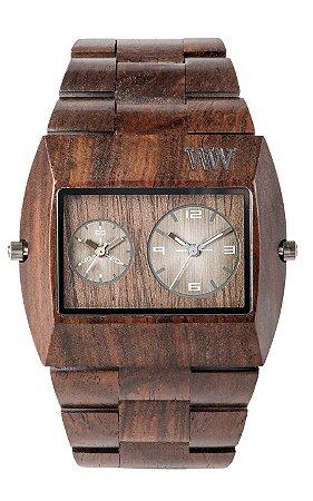 Relógio de Madeira WeWood Jupiter RS Chocolate