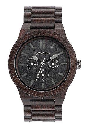 Relógio de Madeira WeWood Kappa Black