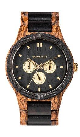 Relógio de Madeira WeWood Kappa Zebrano