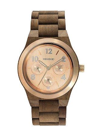 Relógio de Madeira WeWood Kyra MB Nut Rough Rose