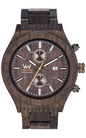 Relógio de Madeira WeWOOD Laguna Noce