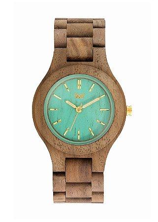 Relógio de Madeira WeWOOD Antea Nut Mint