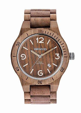 Relógio de Madeira WeWOOD Alpha SW Nut Rough