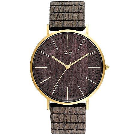 Relógio de Madeira WeWOOD Horizon Gold Ebony