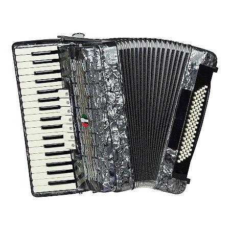 Acordeon Cadenza 80 baixos CD80/37 Cinza Pérola