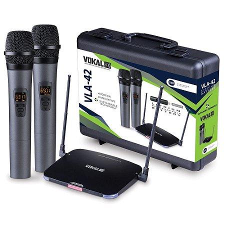 Microfone sem fio Vokal VLA-42