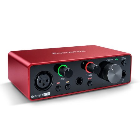 Interface Focusrite Scarlett Solo USB 3RD GEN