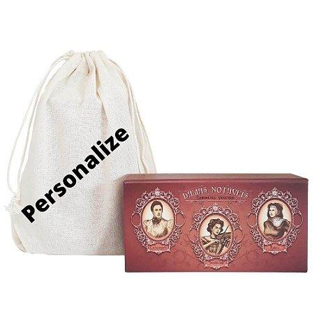 Kit de Sabonetes Damas Notáveis e Sacolinha personalizada