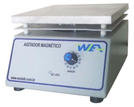 AGITADOR MAGNETICO SEM AQUECIMENTO PLATAFORMA EM ALUMINIO 170X170MM CAPACIDADE DE AGITAÇÃO DE 1-10L