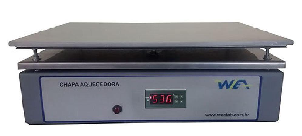 CHAPA AQUECEDORA COM CONTROLADOR DIGITAL PID MICROPROCESSADO 220V 300ºC