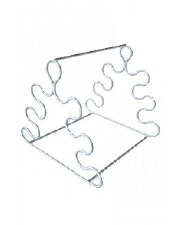 Estante em Arame com PVC para Pipeta Triangular  p/ 6 Pipetas