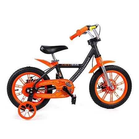 Bicicleta Infantil Treme Terra Rhino Aro 14 - Preta