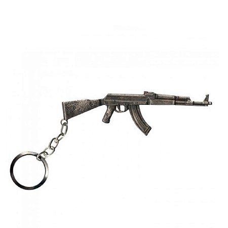 Chaveiro AK 47 Bélica - Prata Velho