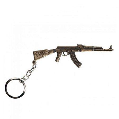 Chaveiro AK 47 Bélica - Ouro Velho