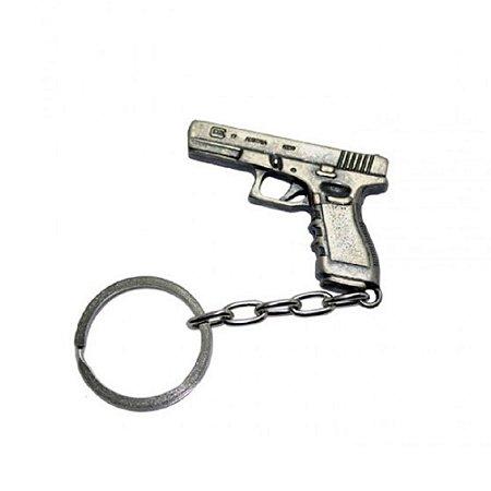Chaveiro Pistola Glock Bélica - Cromado