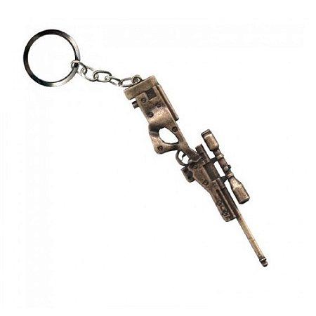 Chaveiro Sniper Bélica - Dourado