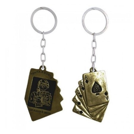 Chaveiro Tenta a Sorte Elite Comandos - Dourado