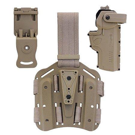 Combo Safe Hammer Em Polímero Bélica Canhoto - Coyote