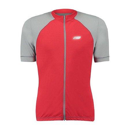 Blusa de Ciclismo Luminous Light Masculina Sol Sports - Vermelho e Cinza