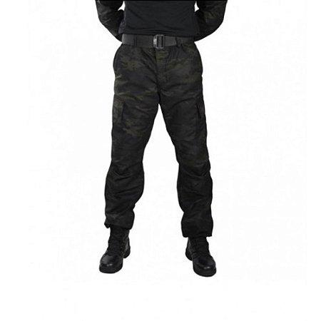 Calça Masculina Combat Camuflada Bélica - Multicam Black