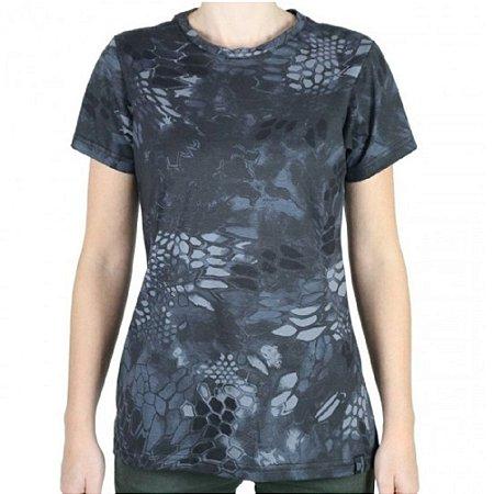 Camiseta Feminina Soldier Camuflada Bélica Typhon