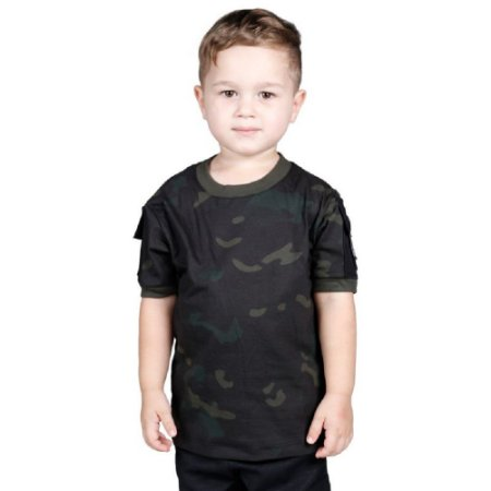 Camiseta Ranger Kids Bélica - Camuflada Multicam Black