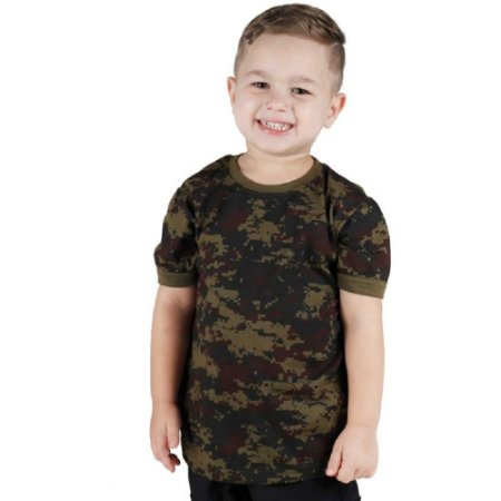Camiseta Soldier Kids Bélica Digital Argila