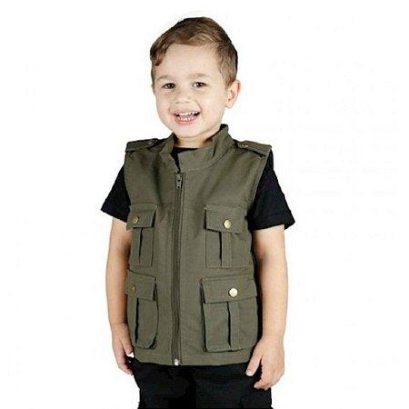 Colete Infantil Army Treme Terra - Verde