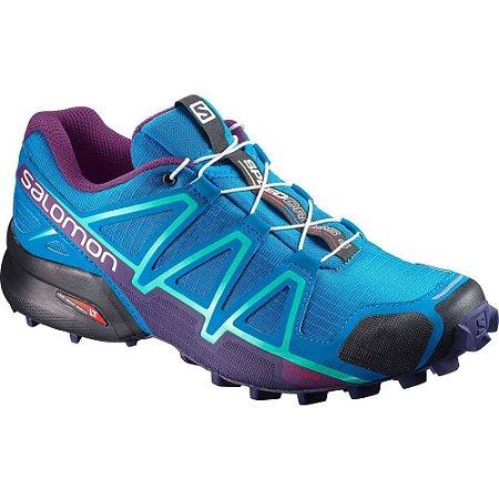 Tênis Speedcross 4 W Salomon - Azul e Roxo